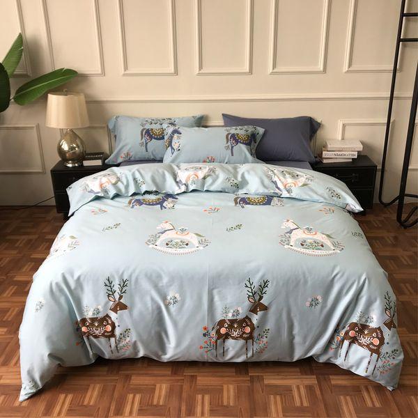 American Style 40s bedding set 4pcs egyptian cartoon duvet cover set Bedspread bedlinen home textile