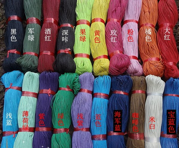 rope form Free shipping 10 100 Meters (each 10m ) Mixed Color Waxed Cotton Beading Cord Rope 1mm For Bracelet