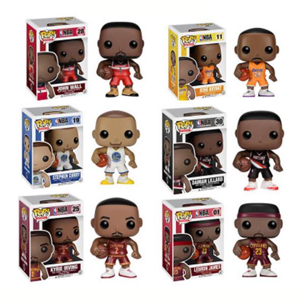 Funko pop Star Deportes Jugador de baloncesto Kobe Stephen Curry Figura de acción de vinilo Juguete de colección para fanáticos