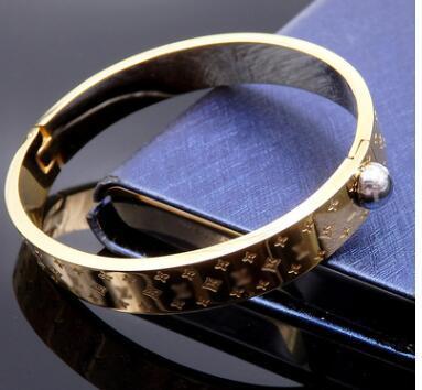 Logotipo de lujo de París Pulseras de reloj Brazaletes para hombres Acero inoxidable 316L Plata Oro rosa Diamante Diseñador Joyería de moda
