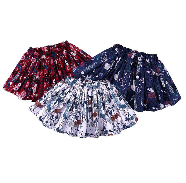 kids designer clothes girls Floral Fluffy Pleated skirts Children Flower print skirt 2019 Summer fashion Boutique kids Clothing BY0935