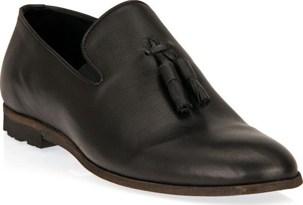 Uniquer Único homens negros de couro genuíno Shoes 9150-7845 2 Navio da Turquia HB-003760770