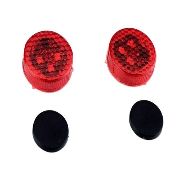 Evrensel 2PCS Kablosuz LED Araç Kapı Uyarı Işık Mıknatıs Gösterge kaçının Crash Strobe Flaş Sinyal Lambası - Kırmızı
