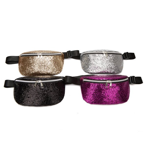 Lantejoula Glitter Fanny Pack para Mulheres Meninas Moda Sereia Pacote Da Cintura Pacote de Cintura Lantejoulas Reversível Cinto Sacos para Festa Festival Ao Ar Livre