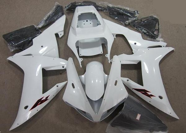 Бесплатный лобовое стекло новый ABS мотоцикл обтекатели комплект для YAMAHA YZF R1 2002 2003 YZFR1 02 03 YZF-R1 белый