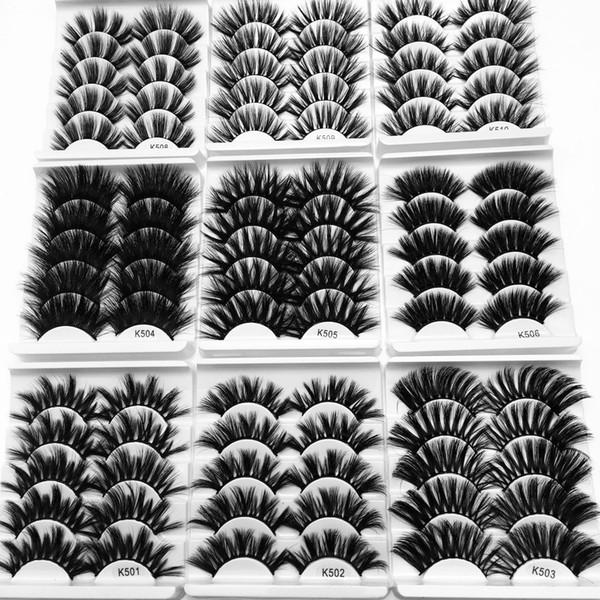25мм норковые волосы 5 пар густые ресницы натуральные обнаженные ресницы косметич