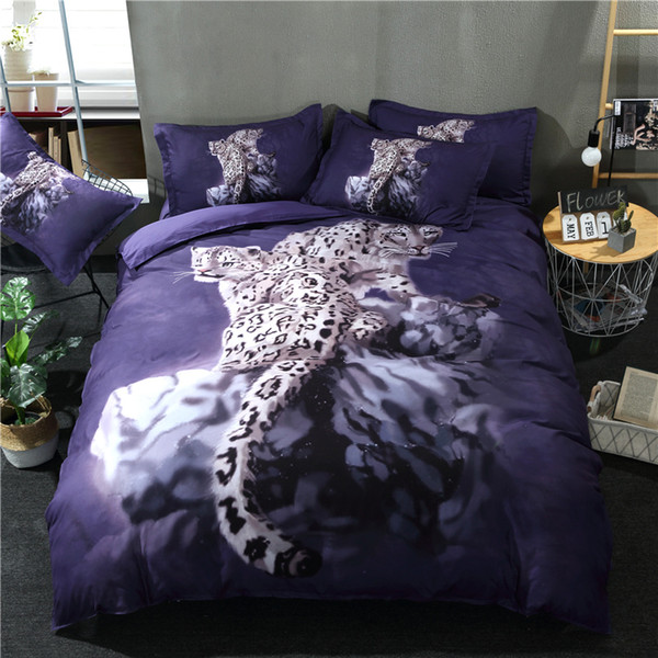 New Ferocious Leopard 3D Bedding Sets Printed Duvet Cover Set 3pcs/Set Queen King Twin Size