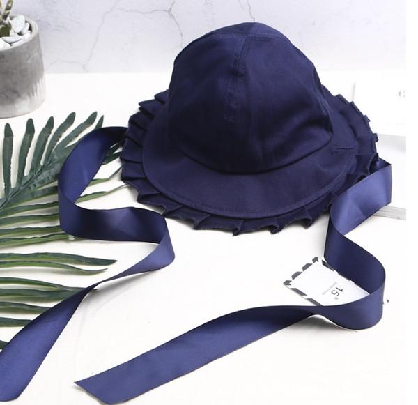 Amplia playa del borde del sombrero retro del estilo británico 9color verano señoras de las mujeres de fieltro de lana Caps Fedora Floppy cloché Bowknot Sombrero de sol Ocio tendencia Joker