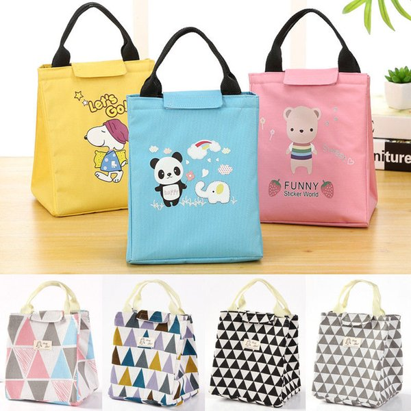 New Style Thermal Insulated Lunch Box Cooler Bag Tote Bento Pouch Lunch Container Portable e Cartoon Storage Bags