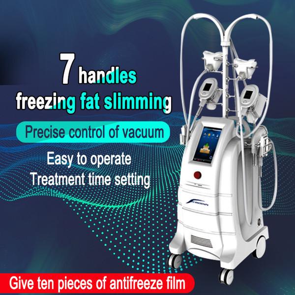 2019 Yükseltildi Sürüm !!! CCryolipolisis Soğuk Teknoloji Cryolipolysis Vücut Şekillendirici Makinesi 7 Yağ Donma Vücut Zayıflama Makinesi Kolları