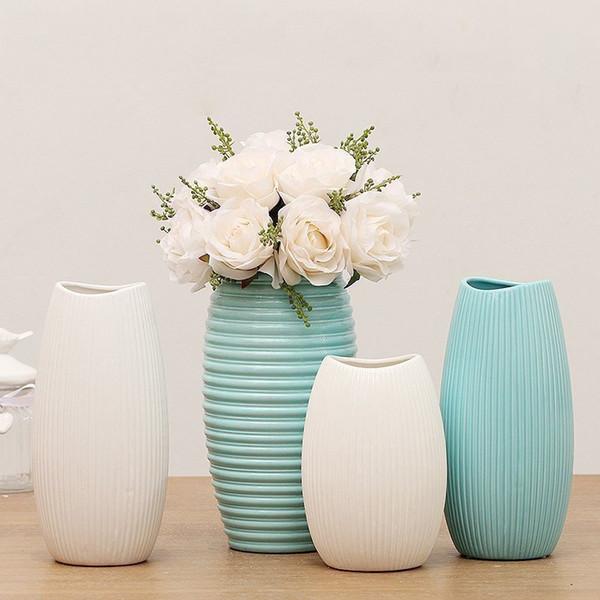 European home decoration ceramic vase artificial flower vase living room tabletop decoration bar cafe table decorative