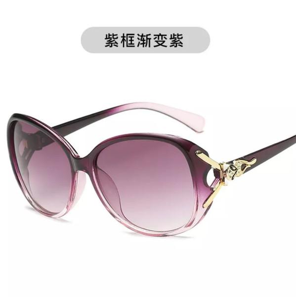 2019 Coreano Rodada Rosto de Moda Magro Feminino Estrela Ultravioleta-prova Grande Quadro Óculos De Sol Por Atacado Livre de Frete