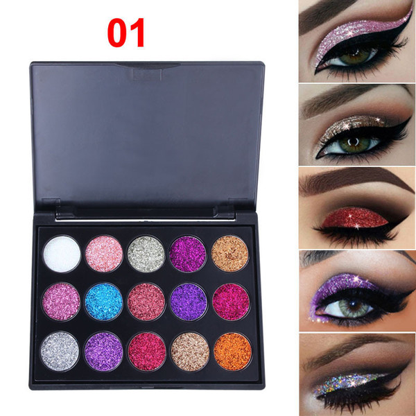 NICE Color Glitter Eye Shadow estilo popular para maquillaje Diamond Sequins Shiny Eyeshadow Palette Paleta de maquillaje de ojos brillantes de marca