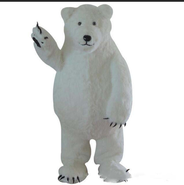 2018 vente directe d'usine Custom Made White Costume de mascotte d'ours polaire White Bear Mascot Custom