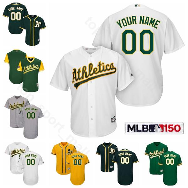 Oakland Baseball Athletics 10 Maillot Marcus Semien Cool Base 2 Khris Davis 26 Matt Chapman 23 Jurickson Profar 22 Ramon Laureano Mike Fiers