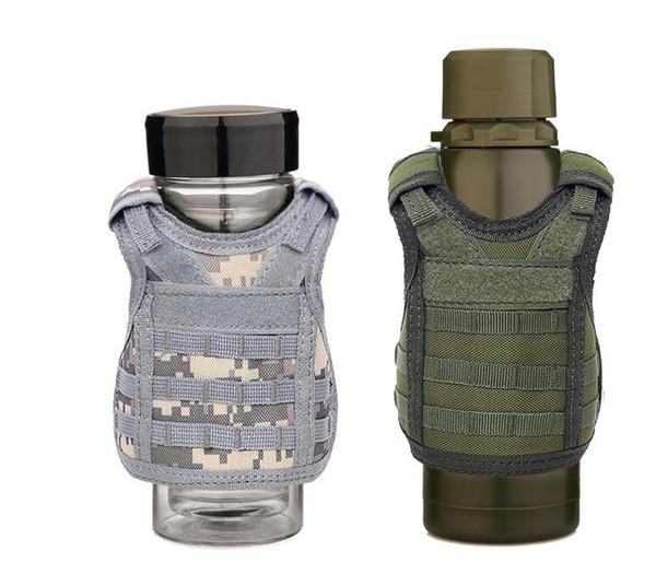 Tactical Military Beer Cover 7 Farben Bierflasche Weste Flasche Drink Set Verstellbare Schultergurte Party Supplies OOA7068
