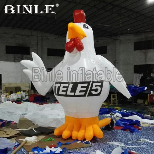 Customized commercial giant inflatable chicken event inflatable rooster model toy for advertising