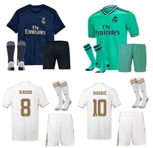 Nouveau 19 20 real madrid hommes kit designer t-shirts maillot de football Maillots de foot 2019 2020 Asensio BALE ISCO camiseta de fútbol maillot