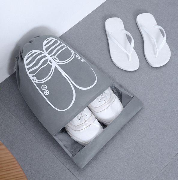 Sacs à chaussures imperméables Sac de rangement pour chaussures de voyage Organisateur Organiser le fourre-tout Sacs à cordon non tissés