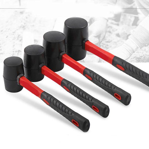 Caoutchouc Marteau Mallet 8/12/16/24 oz Décoration outil Hammers arbre poignée avec installation Grip S7 # 5