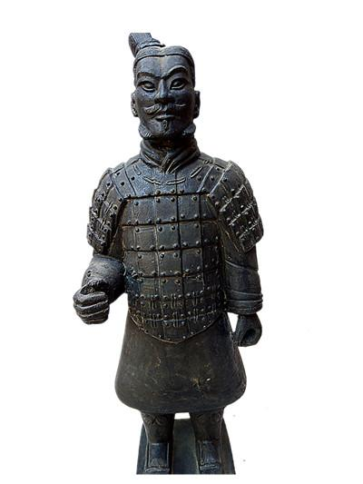 Terracotta Warriors soldier Statue 42cm height Designer replica Ancient Qin Shihuang warrior eighth wonder world Great Xi'an history miracle