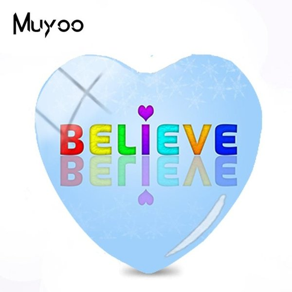 2019 New Faith Hope Love Heart Glass Dome Cabochon Believe Cabochons Handmade Photo Jewelry For Gifts