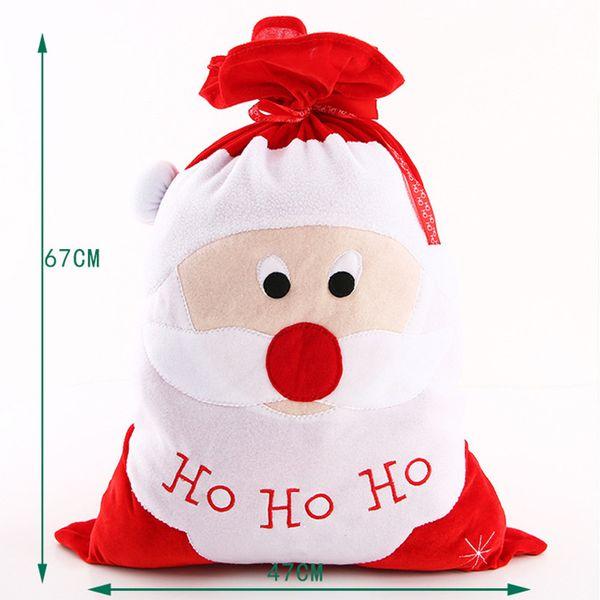 Red Santa/'s Gift Sack Christmas Fur Bag Toy Bag Costume Accessory