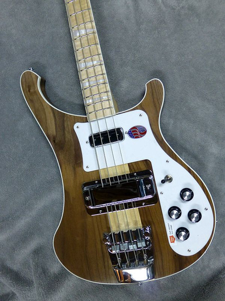 NEW 4003W Natural Walnut Bass RARE TRANSLUCENT WALNUT vintage 4003 ric Electric Bass Guitar Neck Thru Body One PC Neck & Body