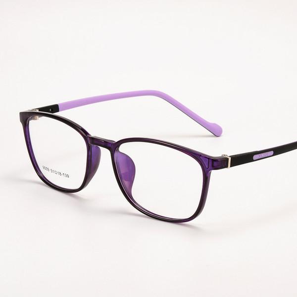 Männer Frauen TR90 Brillengestell Männer Brillen Klassische Vintage Quadratische Klare Linse Schwarze Brille Optische Brillengestell