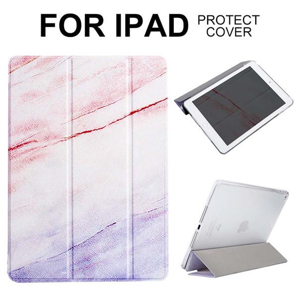 MOQ 1PCS Auto Sleep/Wake Smart Case For iPad 2 3 4 Air 1 2 iPad 9.7 2017 2018 Mini 1 2 3 4 Pink Marble Smart Cover