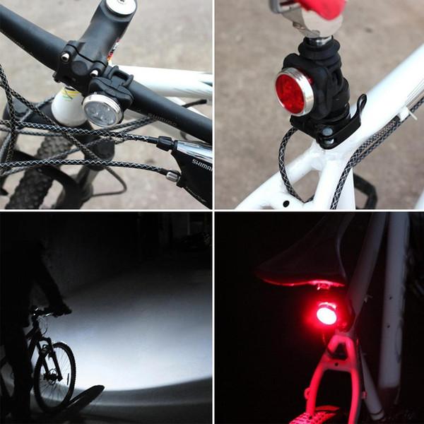Indicateur de bicyclette rechargeable étanche à l'épreuve des feux arrière du phare S'allume fort, faible, flash lent, stroboscopique.