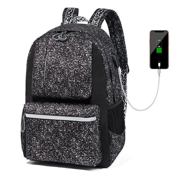 good quality New Women Men School Backpack Anime Luminous Usb Charge Laptop Computer Backpack For Teenager Anti-theft Boys School Bags