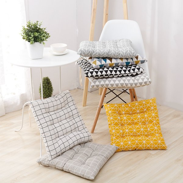 Comfortable Cotton Seat Cushion Office Bar Chair Back Seat Cushions Sofa Pillow Buttocks Chair Cushion Home Office Decor