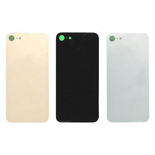 Top qualité pour iPhone 8 8 Plus X couvercle de la batterie arrière d'origine panneau de porte arrière cas de boîtier en verre + réparation autocollant adhésif de remplacement