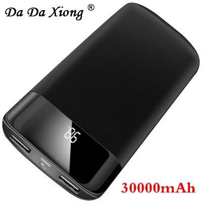 18650 30000mAh Energien-Bank-externe Batterie PoverBank 2 USB-LED Powerbank bewegliche Handy-Ladegerät für Xiaomi MI X
