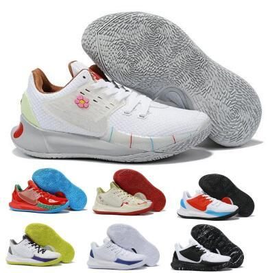 2020 New Arrival Mens Kyrie Low 2 Basketball Shoes Sneakers Sponge Mr Krabs Sandy Cheeks Squidwards White Designer Trainers Basket Shoes