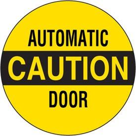 100pcs/lot diameter 102mm CAUTION AUTOMATIC DOOR warning lable stickers,art paper with gloss lamination, Item No.CA22