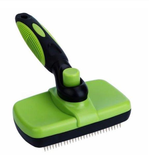 Pet Grooming Brush Comb Furmins Dog Self Cleaning Slicker Brush for Small Large Dog Cat Short Long Hair