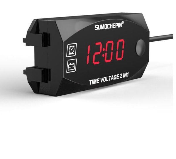 New voltmeter electric vehicle electronic time meter two-in-one multi-function digital display