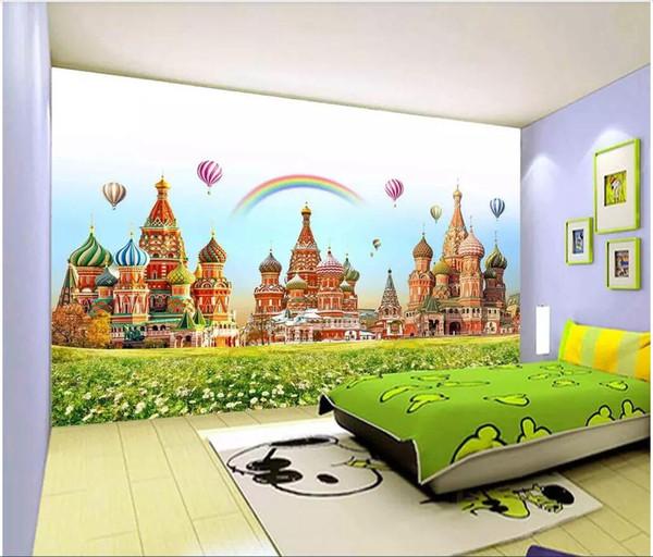 Grosshandel 3d Wallpaper Benutzerdefinierte Fototapete Kinderzimmer Schloss Traumwelt Tv Hintergrund Wandtapete Fur Wande 3 D Von Wdbh1 26 14 Auf