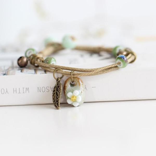 fashion delicate hand-woven ceramic beads bracelet originality chinese style bracelet adorn article 00993