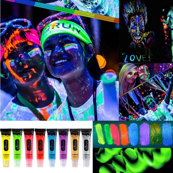 IMAGIC Neon UV Bright Face Body Paint Fluorescent Rave Festival Painting 13ml Halloween Professional Painting Beauty Makeup
