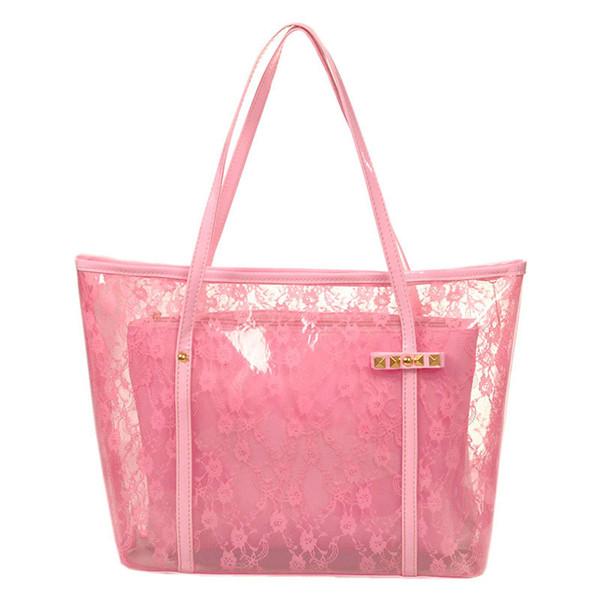 gute Qualität Dame Printing Flower Handtaschen Designer Tote Bag Durchsichtige Umhängetaschen Klarer transparenter Geleebeutel