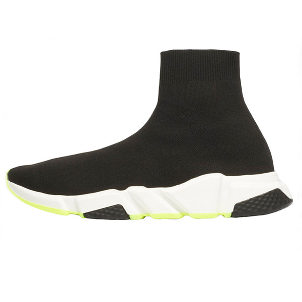 2019 Designer Shoes Speed formateur Noir Rouge gypsophile Triple Noir Mode Sock plates Bottes Hommes Femmes Chaussures Casual coureur avec sac à poussière