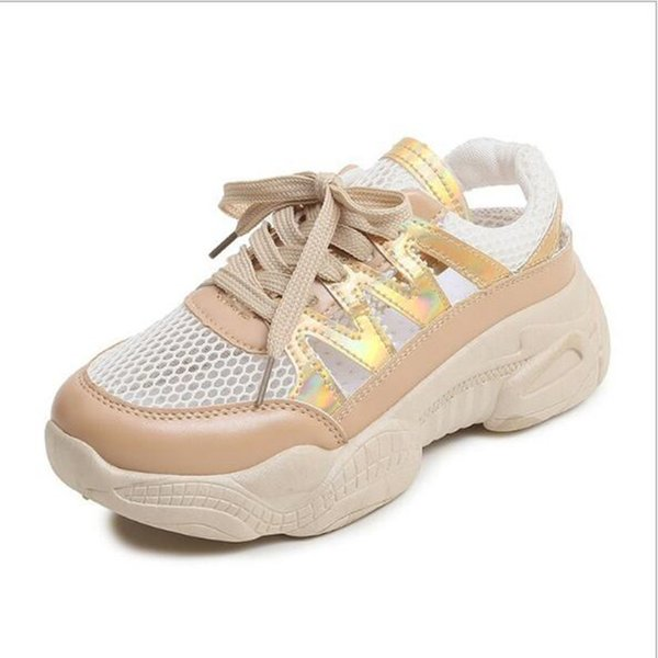 2019 New Women Sneakers Summer Breathable Round Head Platform Shoes Woman Casual Shoes Ladies Outdoor Comfortable Running