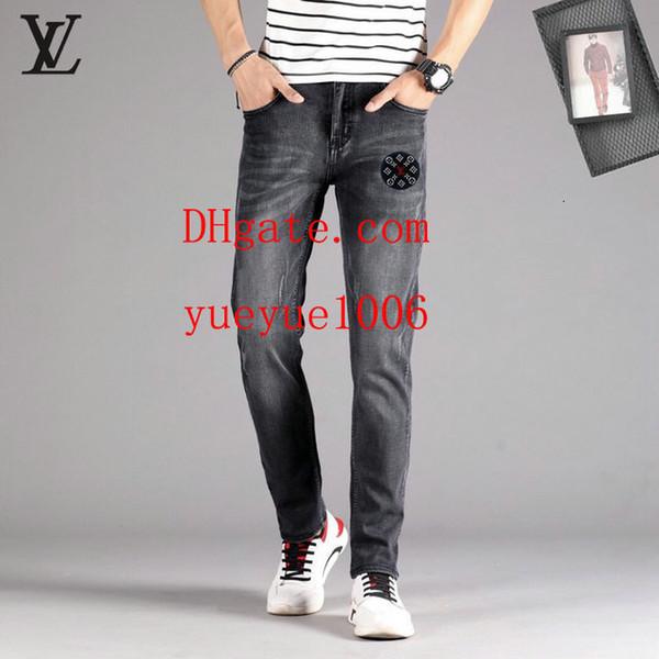 Denim Pants mens Distressed Skinny Jeans Fashion boys Jeans Joggers Slim mens clothing casula Mens Denim Pants Hip Hop Men Jeans 1010