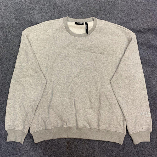 FEAR OF GOD double line ESSENTIALS 19AW high street casual pullover sweater round neck cotton long sleeve S-XL