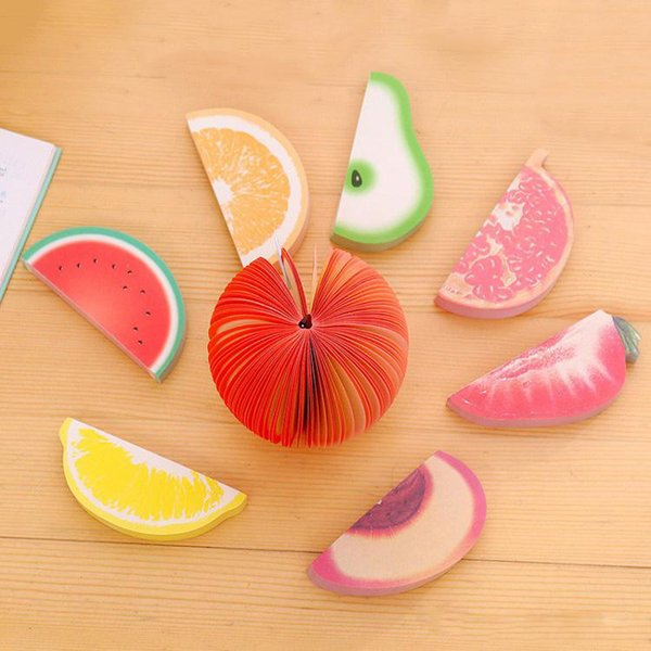 Fruit Paper Sticky Notes Scrapbooking Note Memo Pads Portable Scratch Paper Notepads Post Sticky Diy Apple Pear Shape Convenience Stickers