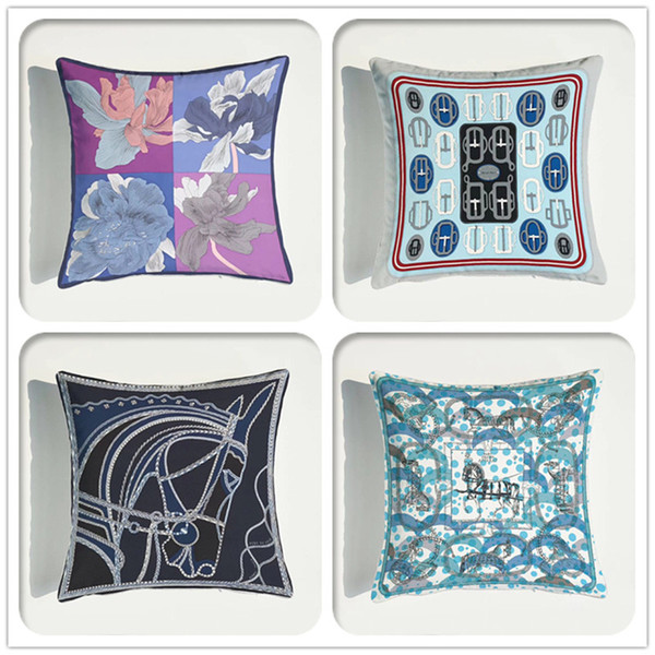 best selling Cushion Cover High Precision Ultra-soft Velvet Environmental Protection Double-sided European Sofa Printing Pillow Case