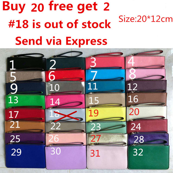 best selling Brand New leather wallets wristlet women purses clutch bags zipper Card bag US Brand